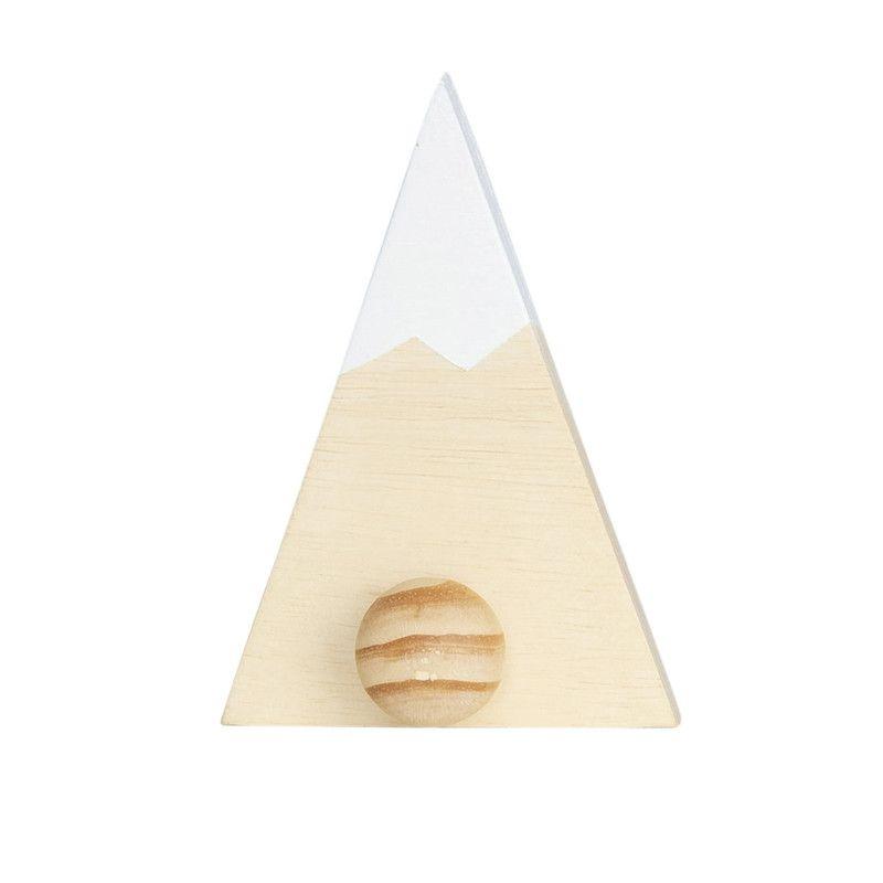 Gancho de parede cabideiro montanha 16 x 5 x 11 cm cor branco