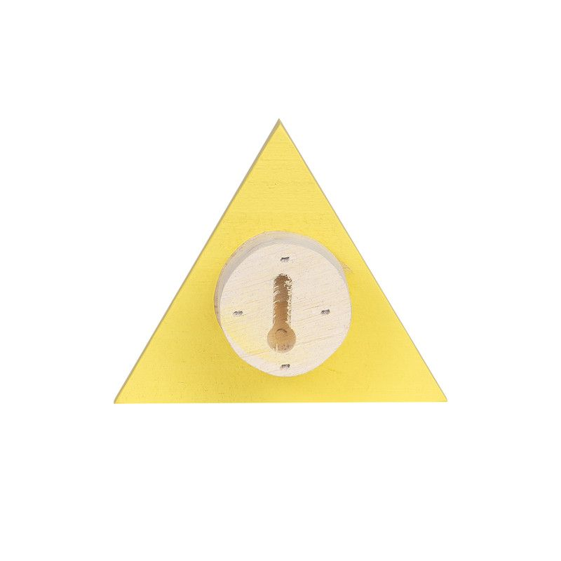 Gancho de parede cabideiro triangulo 10 x 7 x 10 cm cor amarelo  - Pomelo Decor