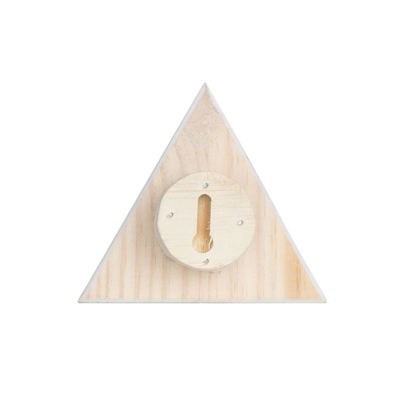 Gancho de parede cabideiro triangulo 10 x 7 x 10 cm cor preto  - Pomelo Decor