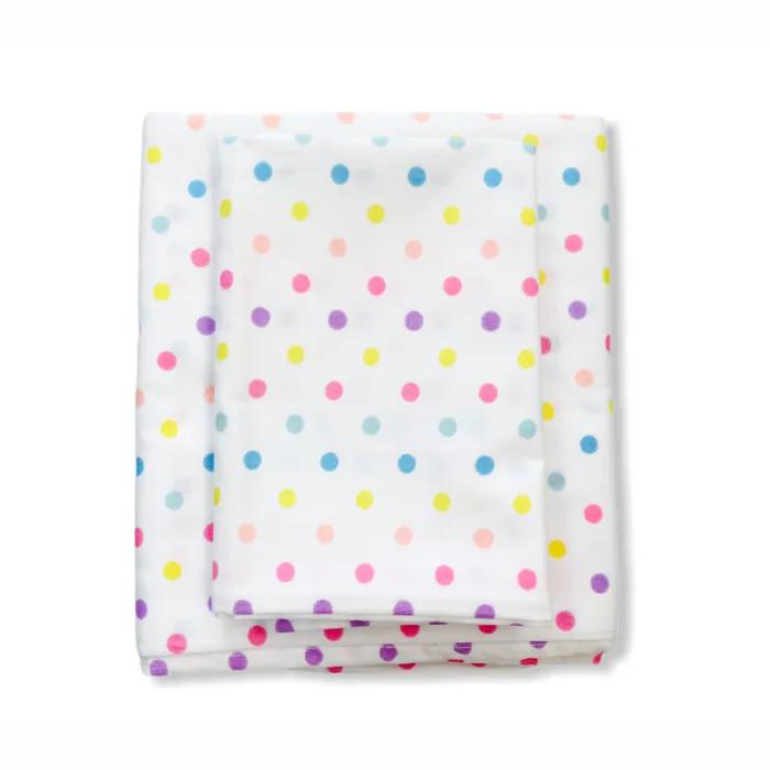 Jogo de Lençol mini berço 2 peças Confete candy 100% algodão