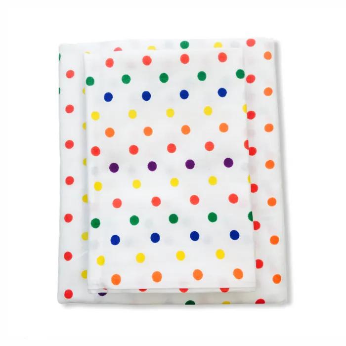 Jogo de Lençol mini berço 2 peças Confete color 100% algodão