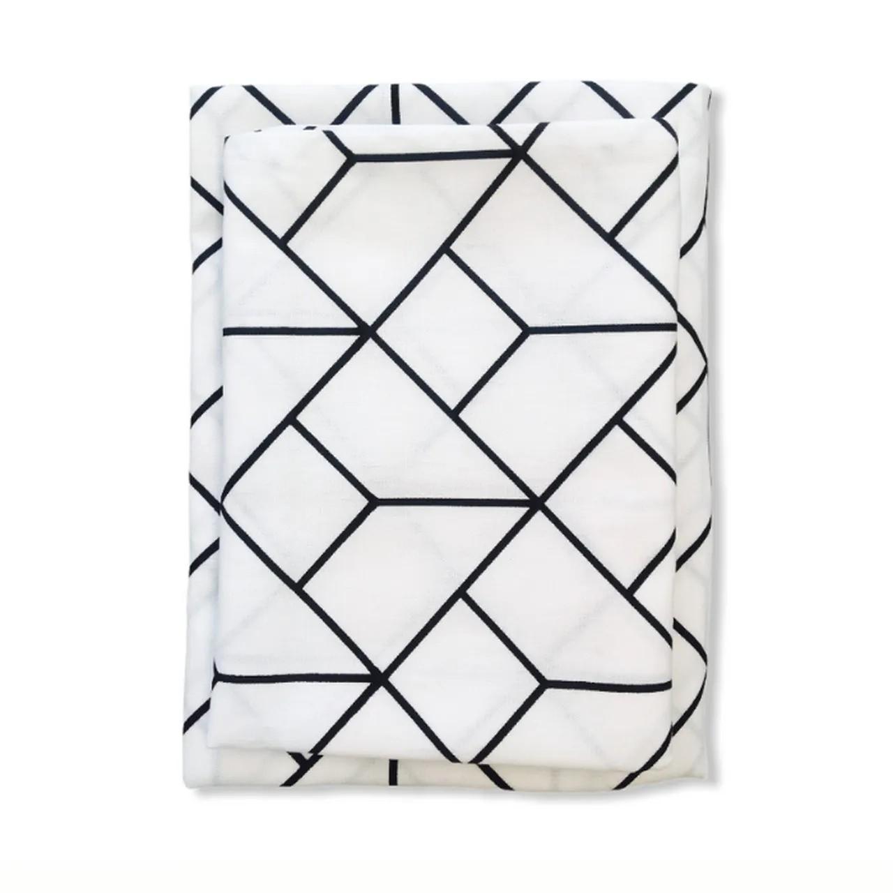 Jogo de Lençol mini berço 2 peças Monochrome 100% algodão  - Pomelo Decor