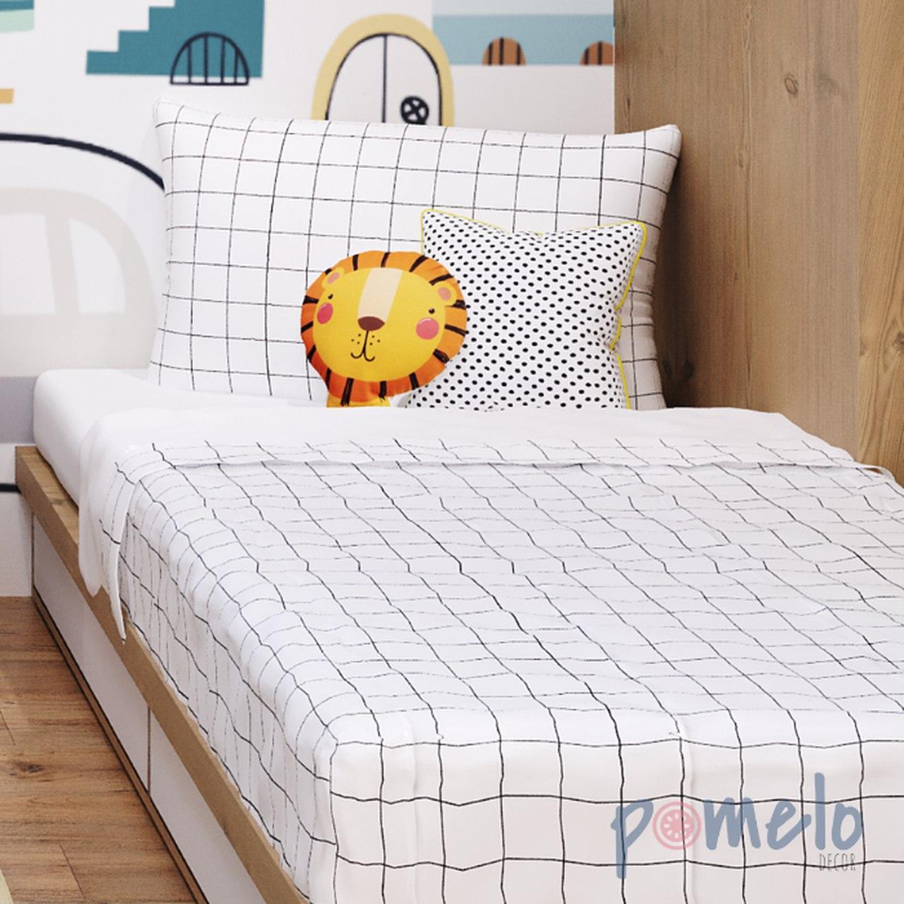 Jogo de mini cama completo 100% algodão Grid