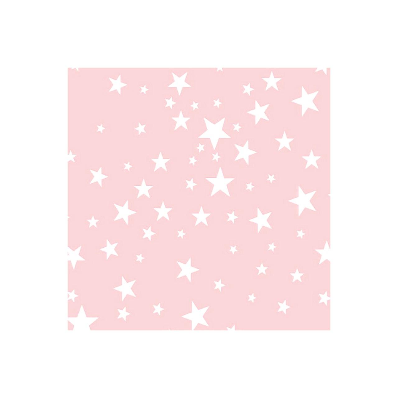 Jogo de lençol mini cama 100% algodão Trama estrela rosa