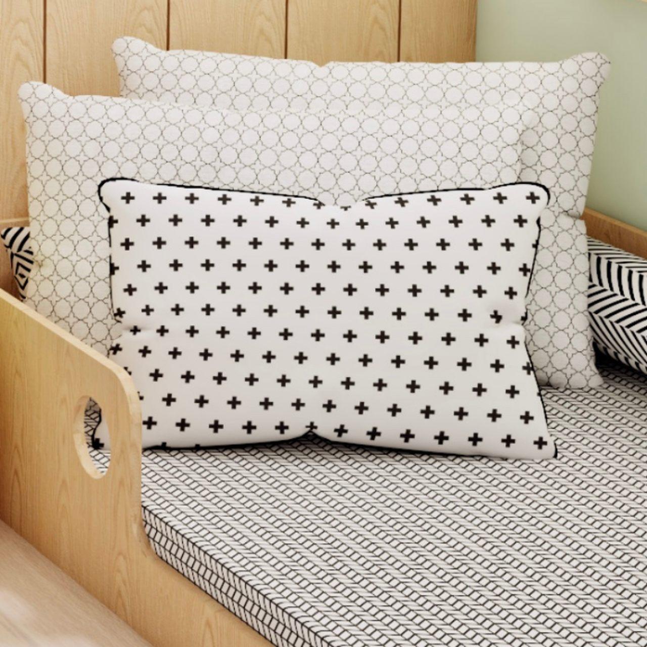 Jogo de lençol mini cama 100% algodão Trama Monochrome