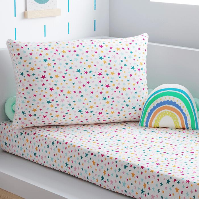 Jogo de lençol mini cama 100% estrelando