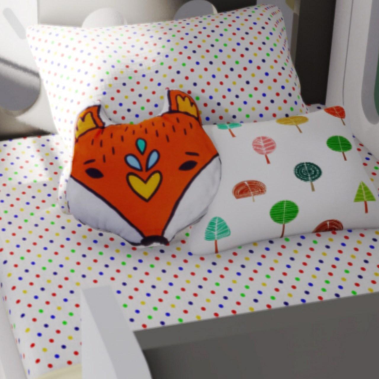 Jogo de lençol para berço cor confete color