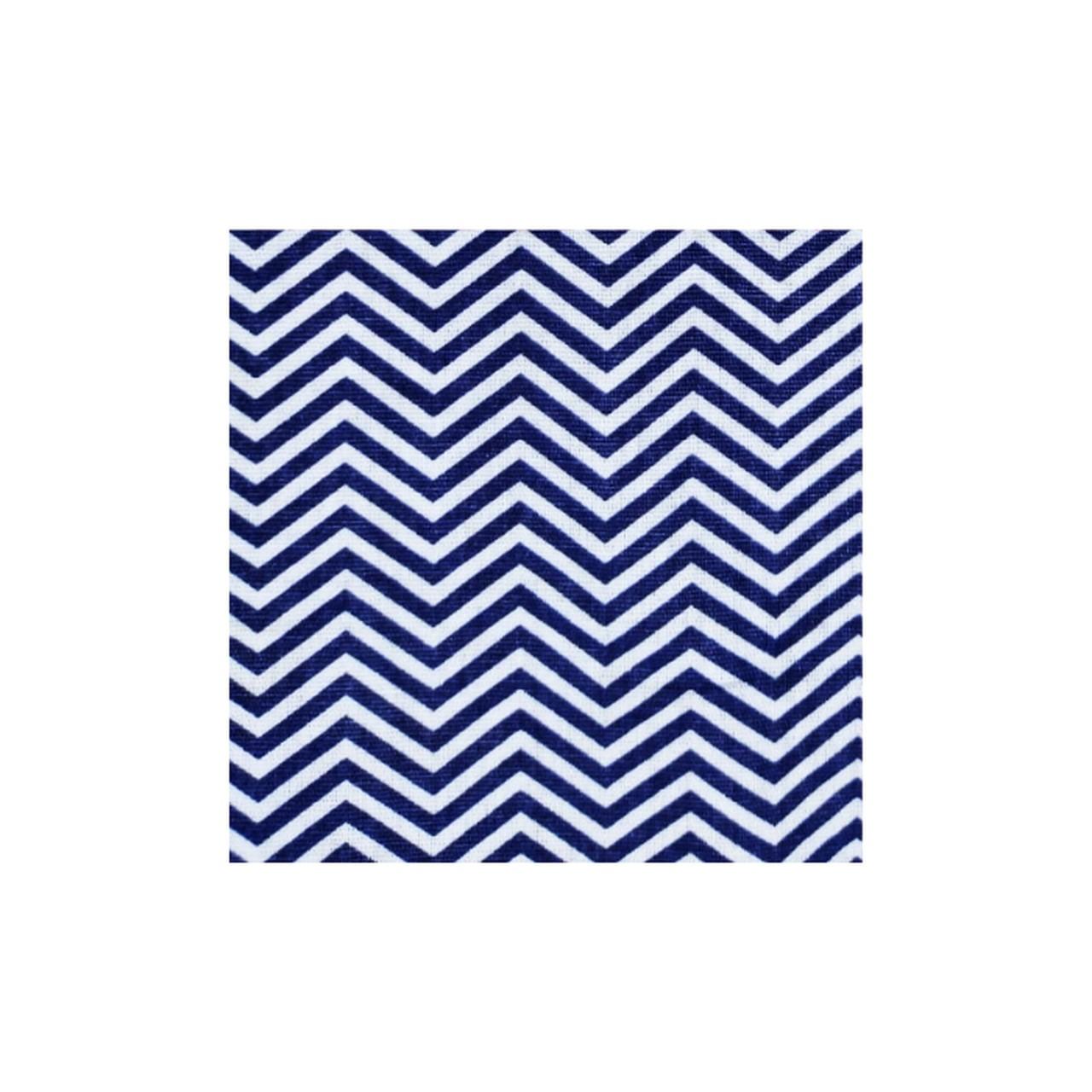 Jogo lençol de elástico solteiro estampa Chevron Trama marinha  - Pomelo Decor