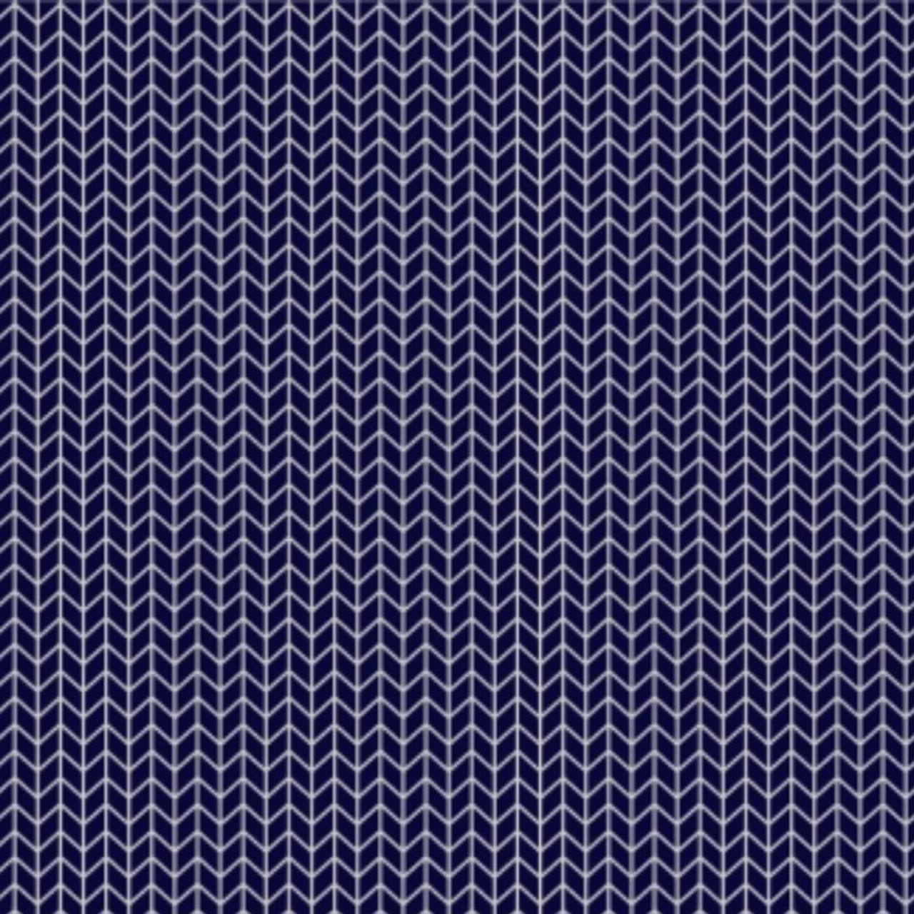 Jogo lençol de elástico solteiro estampa Chevron Trama marinha