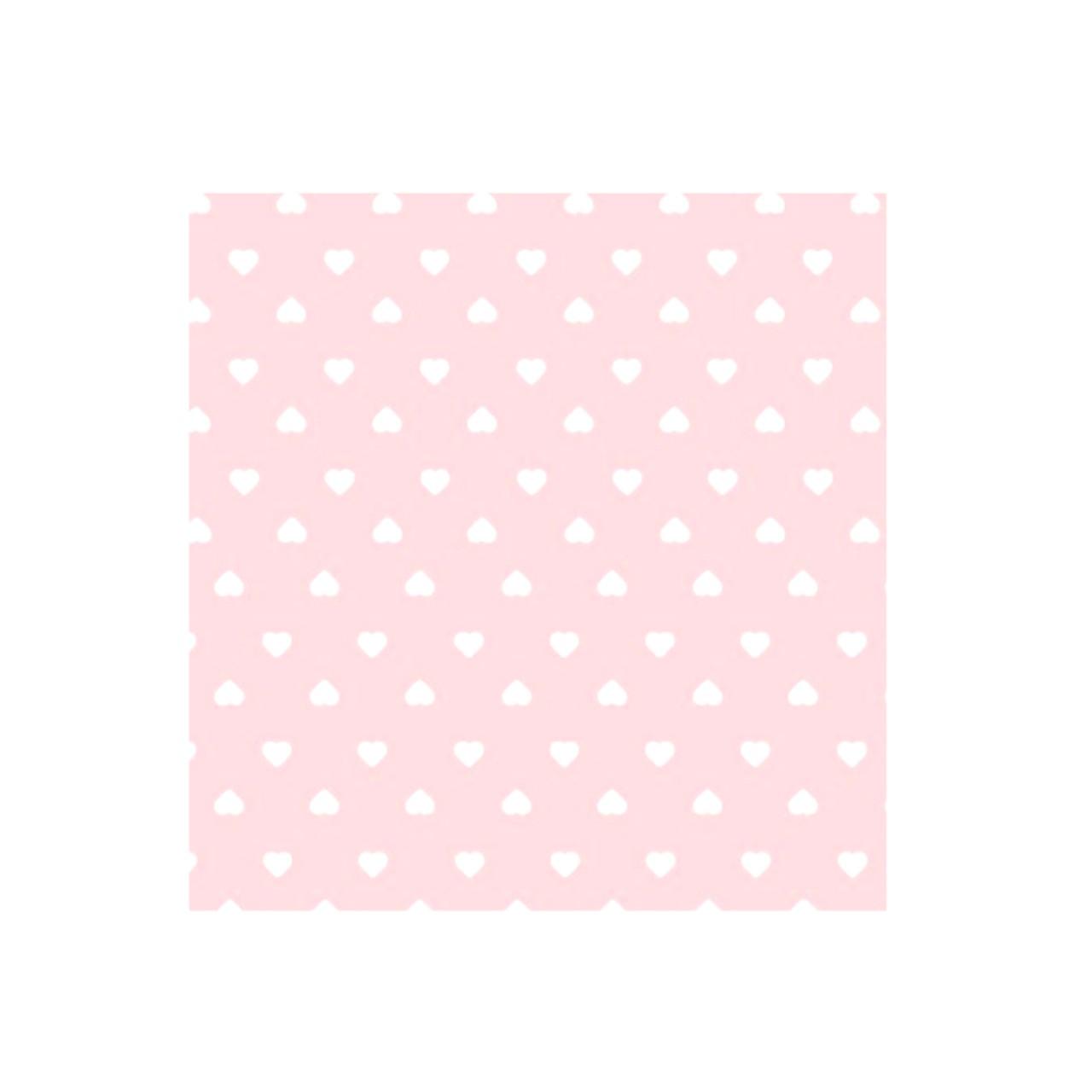 Jogo lençol de elástico solteiro estampa Colmeia coração rosa