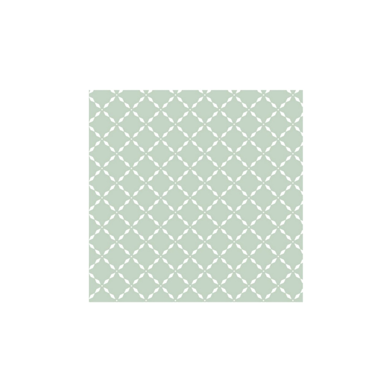 Jogo lençol de elástico solteiro estampa geométrico verde chá   - Pomelo Decor