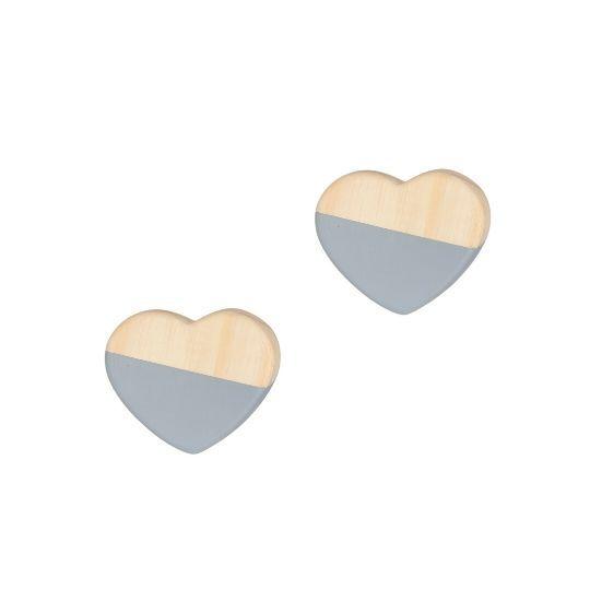 Kit gancho de parede coração  - Pomelo Decor