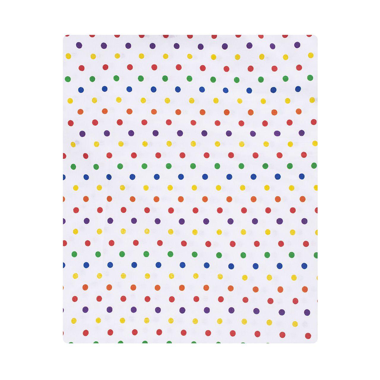 Lençol com elástico berço 70 x 130 cm Confete color  - Pomelo Decor