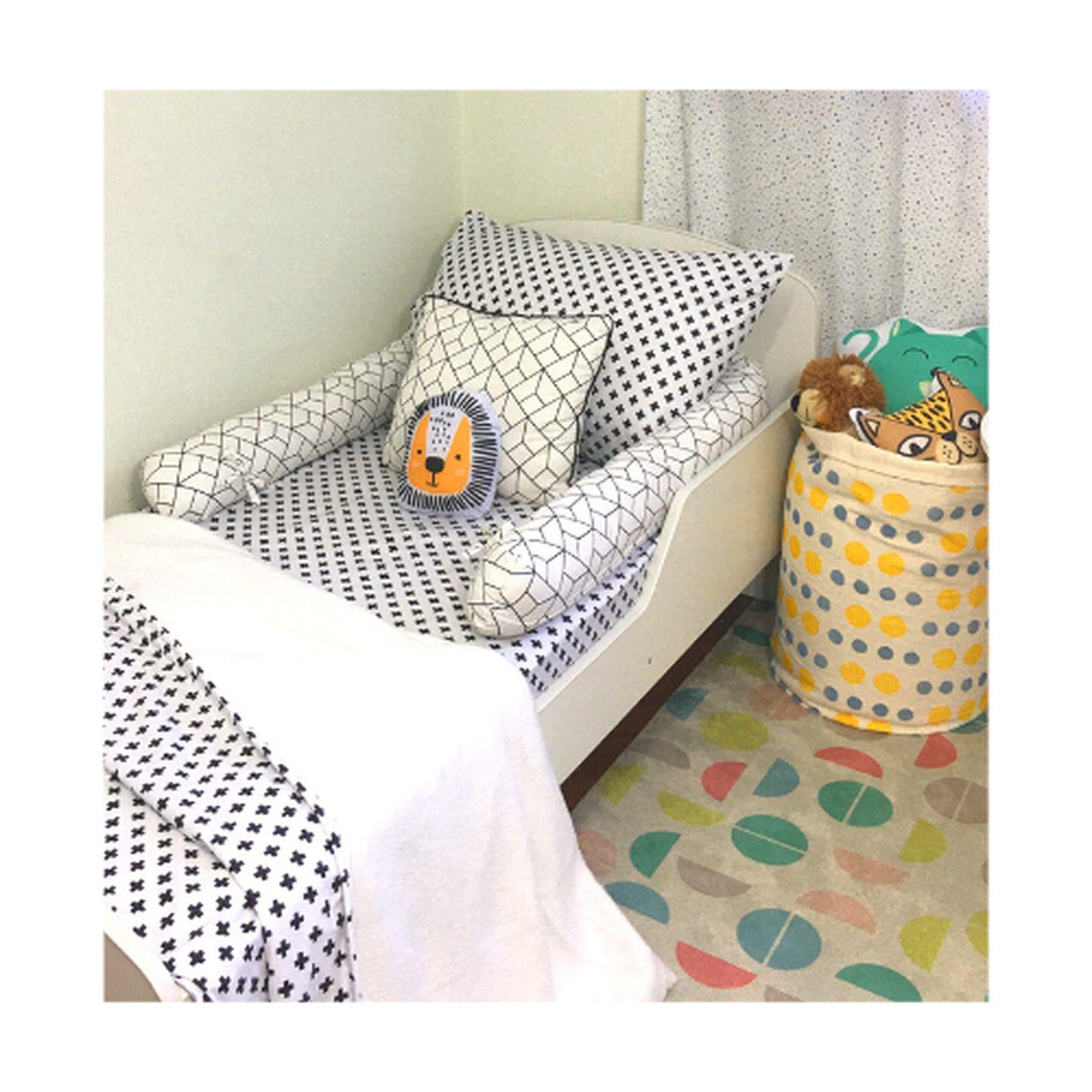 Lençol com elástico mini cama 70 x 150 cm  Cruz Preta