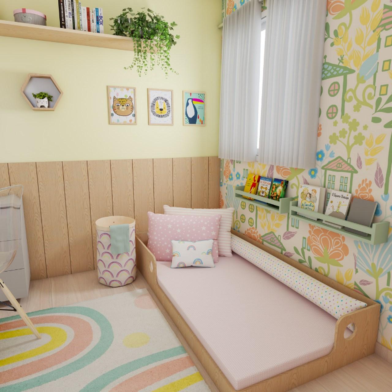 Lençol com elástico mini cama 70 x 150 cm  Trama rosa