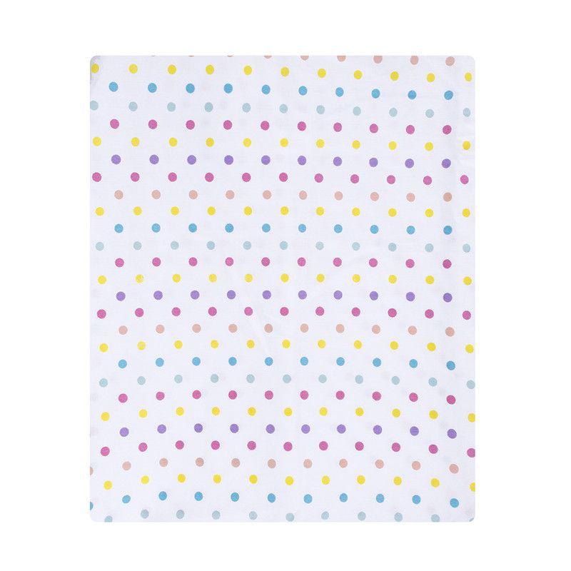 Lençol de cobrir berço, 100% algodão, 105 x 145 cm cor Confete candy