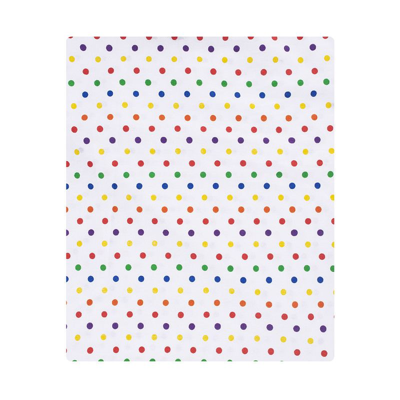 Lençol de cobrir berço, 100% algodão, tamanho 105 x 145 cm cor Confete color