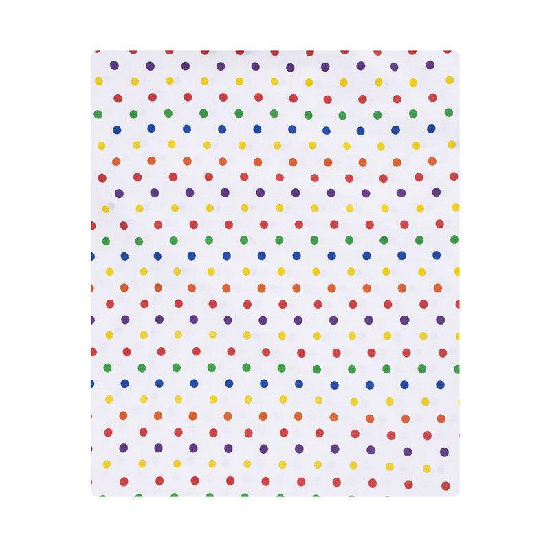 Lençol de cobrir mini cama 100% algodão, 120 x 180 Confete color  - Pomelo Decor