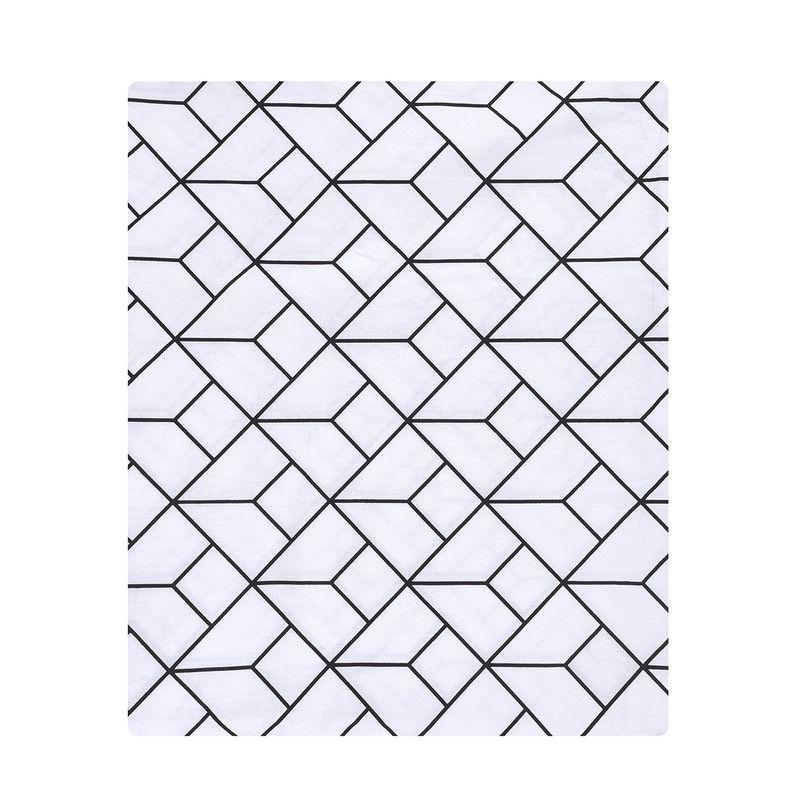 Lençol de cobrir solteiro, 100% algodão, 140 x 220 cm cor Monochrome  - Pomelo Decor