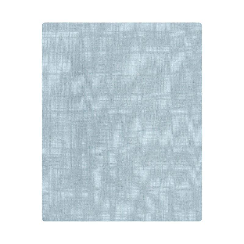 Lençol de cobrir solteiro, 100% algodão, 140 x 220 cm cor  Risca azul  - Pomelo Decor