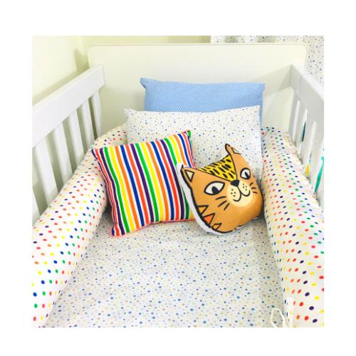 Lençol com elástico mini cama 70 x 150 cm Constelação  - Pomelo Decor