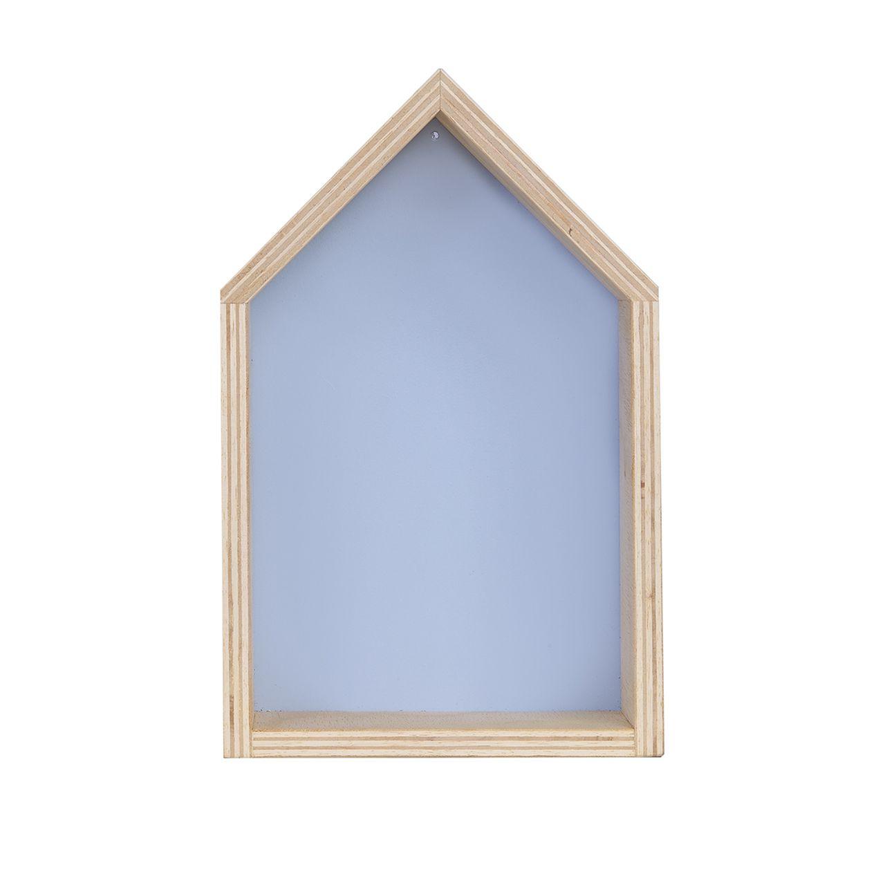 Nicho Casinha decoração 35 x 10 x 20 cor azul