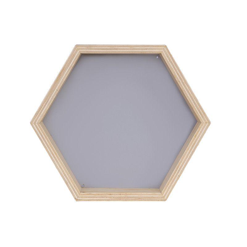 Nicho Colmeia decoração 30 x 10 x 30 cm cor cinza