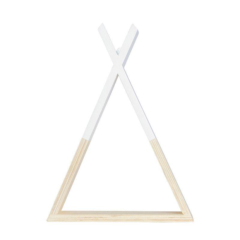 Nicho decorativo Cabana 45 x 10 x 34 cm cor  branco