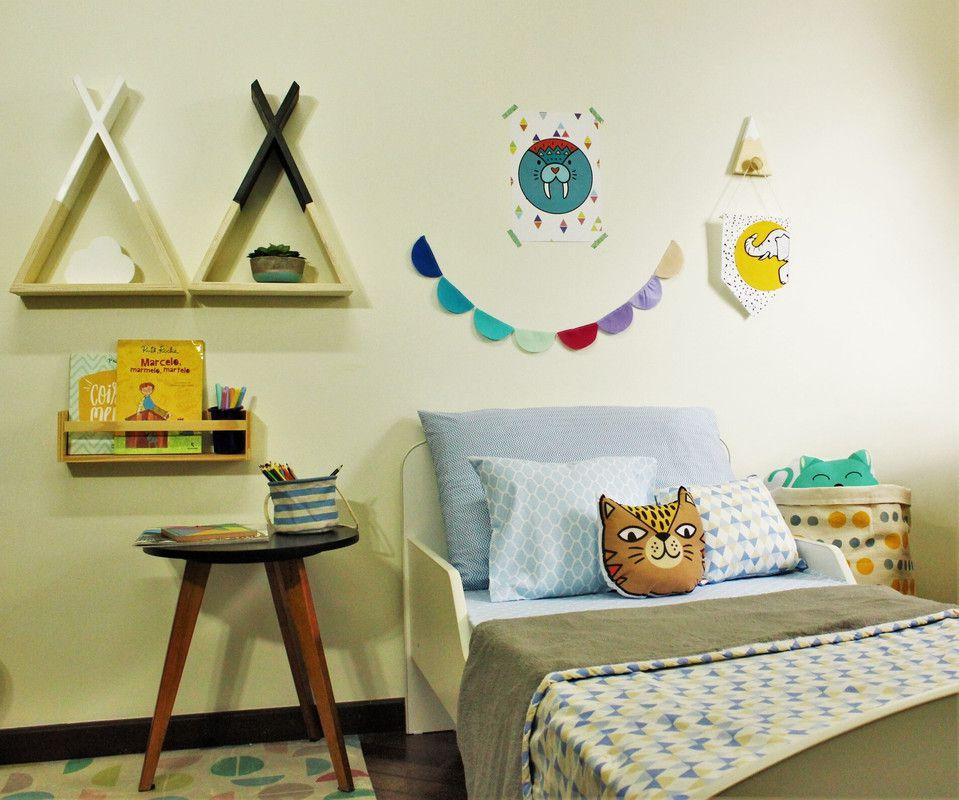 Nicho decorativo Cabana 45 x 10 x 34 cm cor  branco  - Pomelo Decor