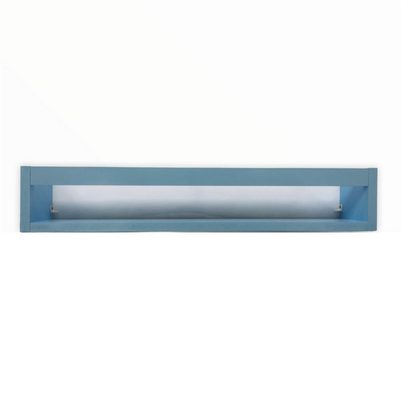 Porta livro de madeira cor azul 60 cm