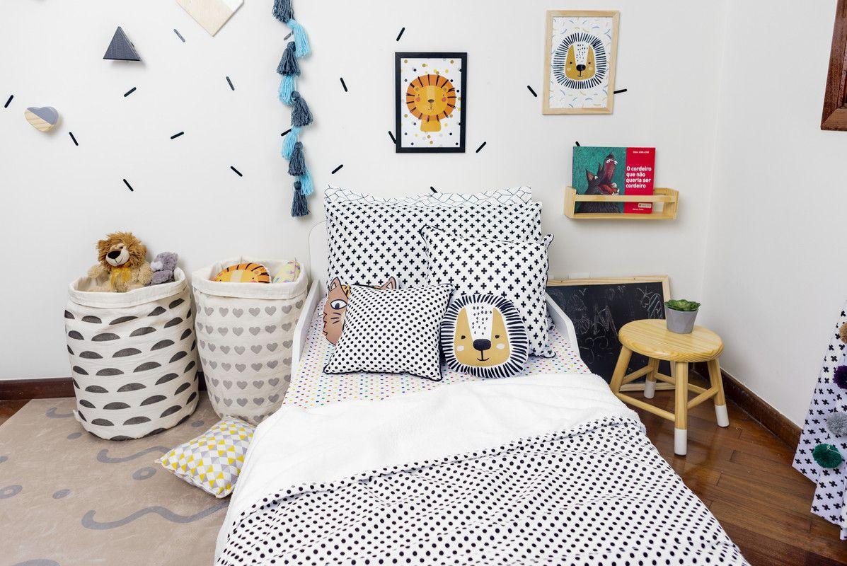 Poster colorido quarto infantil A4 Léo