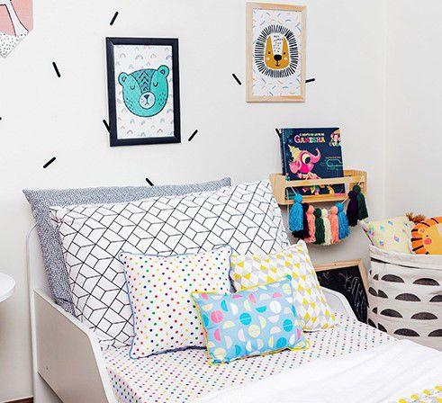 Poster colorido quarto infantil A4 Lion  - Pomelo Decor
