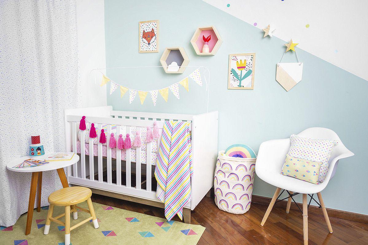Poster colorido quarto infantil  A4 Rapy Color  - Pomelo Decor