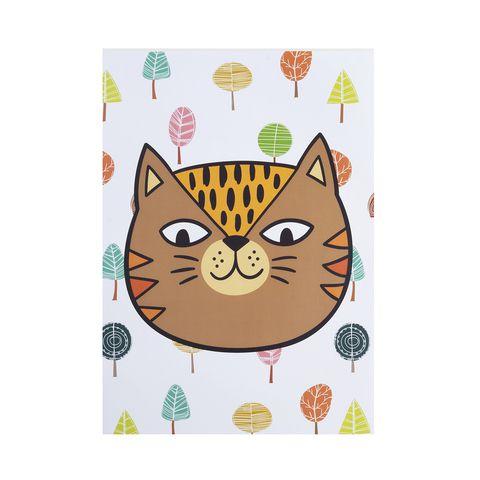 Poster colorido quarto infantil  A4 Tigro