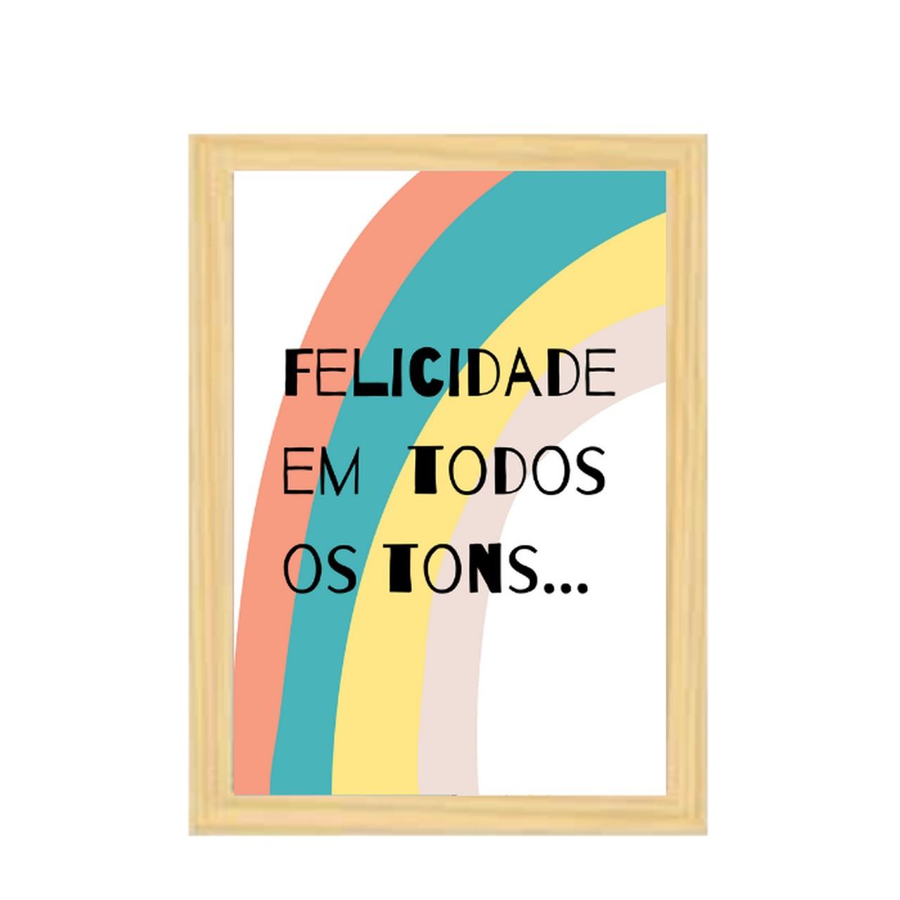 Poster colorido quarto infantil  A4 Tons