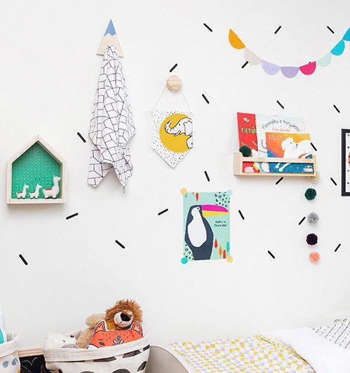 Poster colorido quarto infantil A4 Tuck