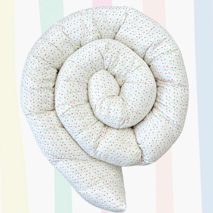 Protetor minhocão 100 % algodão dots rose