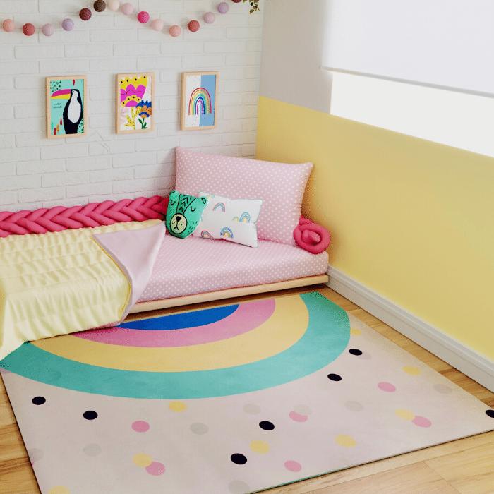 Tapete quarto infantil estampa Arco Íris