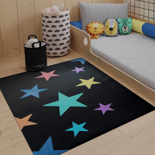 Tapete quarto infantil Constelação colorida
