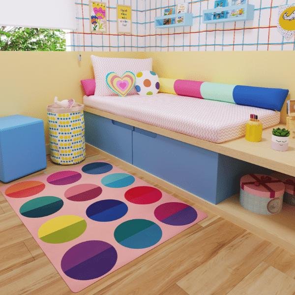 Tapete quarto infantil playmat Max Bolas rosa