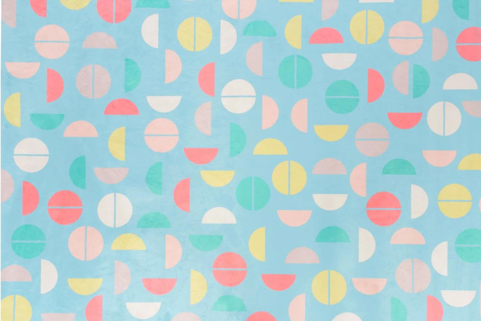 Tapete quarto infantil 100 x 150 cm estampa Colorball Azul