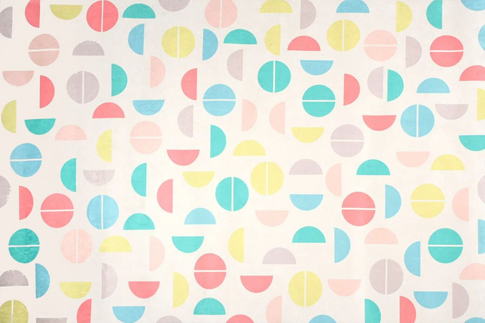 Tapete quarto infantil 100 x 150 cm estampa Colorball Branco  - Pomelo Decor