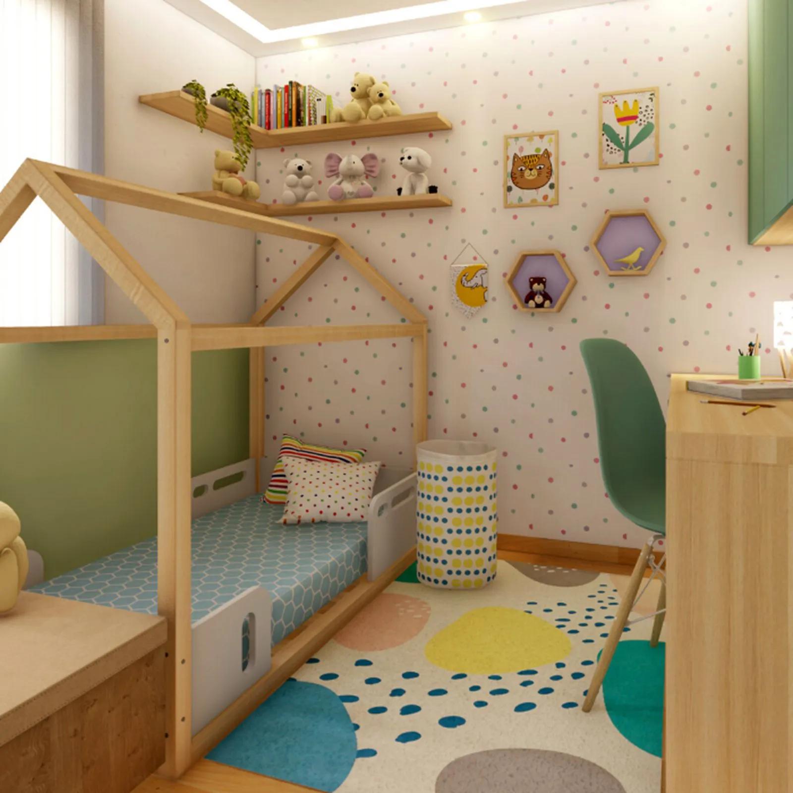 Tapete quarto infantil 100 x 150 cm estampa Mergulho