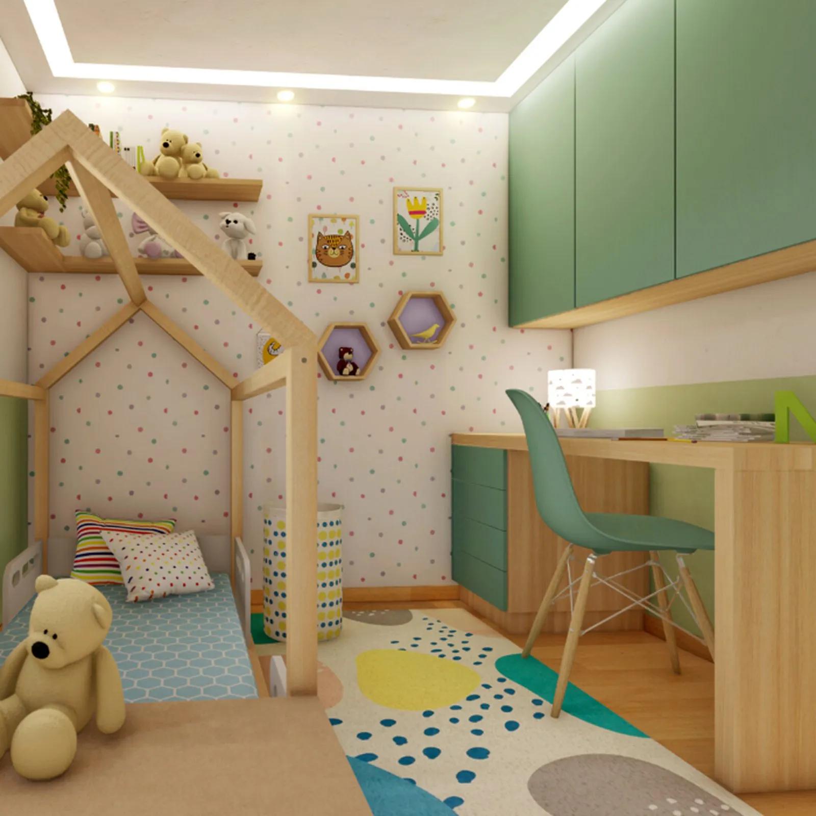 Tapete quarto infantil 100 x 150 cm estampa Mergulho  - Pomelo Decor