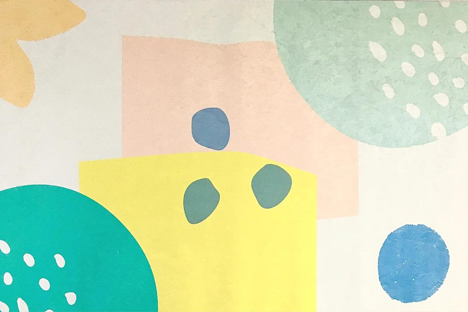 Tapete quarto infantil 100 x 150 cm estampa Natureza  - Pomelo Decor