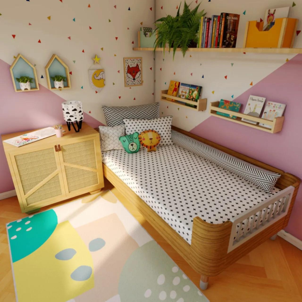 Tapete quarto infantil estampa Natureza