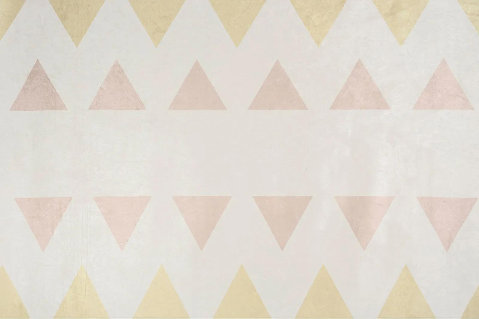 Tapete quarto infantil 100 x 150 cm estampa Triangulo