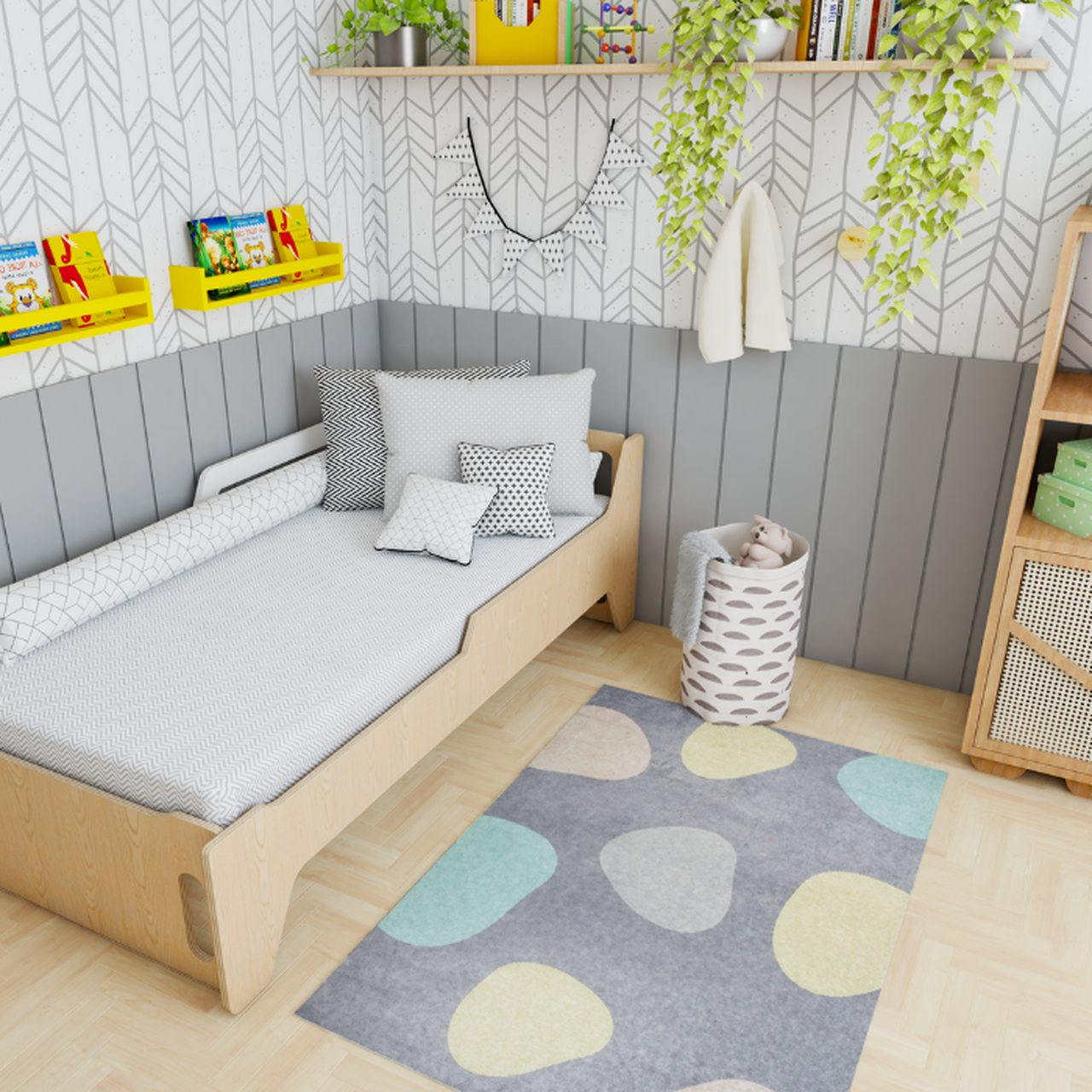 Tapete quarto infantil estampa Bolhas  - Pomelo Decor