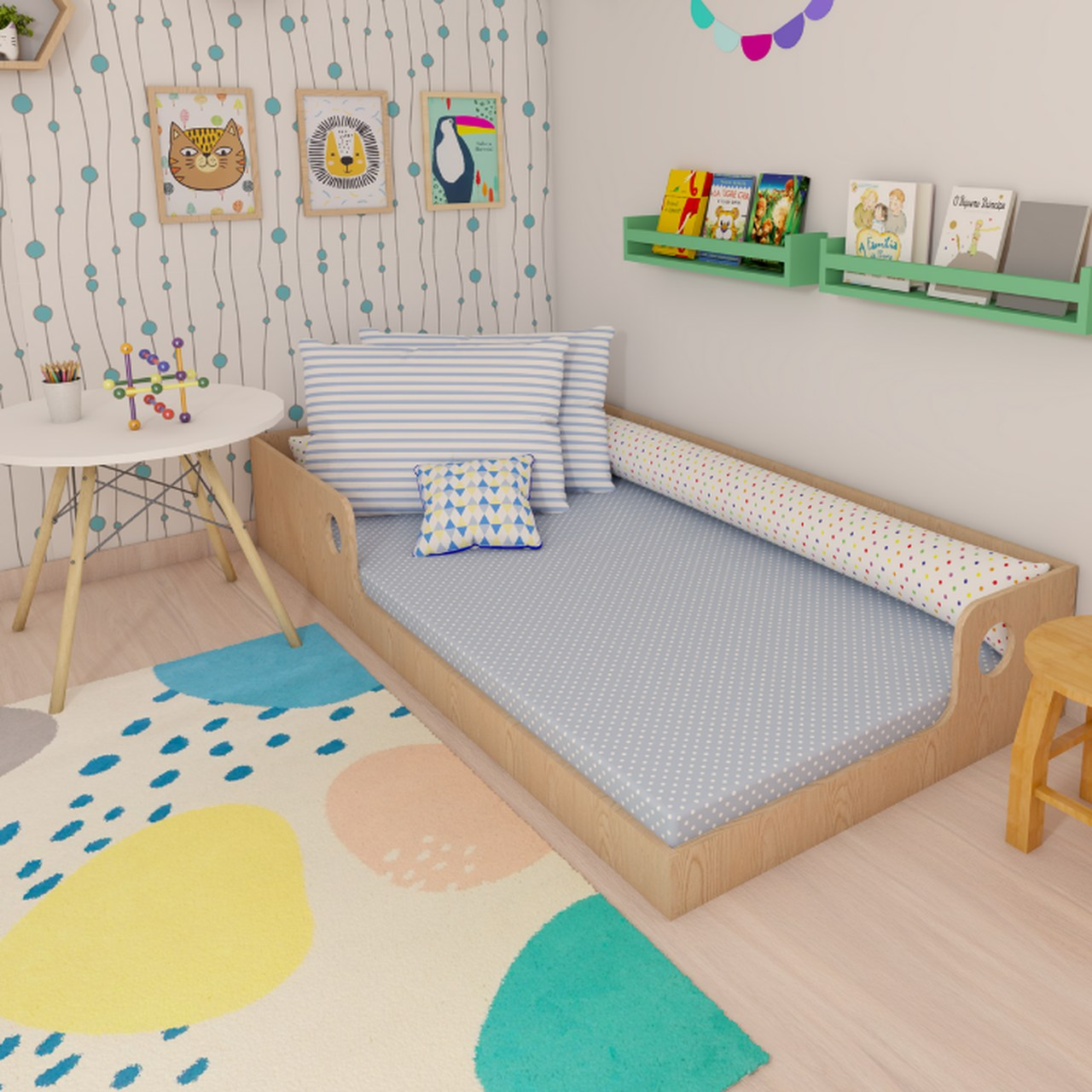 Tapete quarto infantil estampa Mergulho