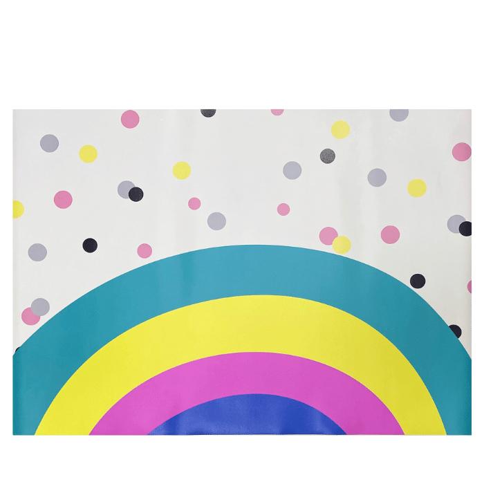 Tapete quarto infantil arco íris play